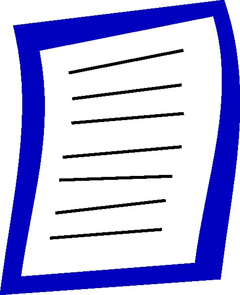 Blue Paper Clip Art at Clker.com - vector clip art online ... | 486 x 597 png 16kB