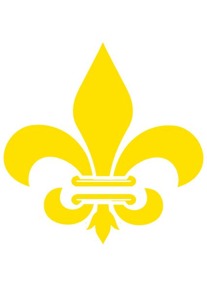 fleur de lis gold with white clip art at clker com Saints Fleur De Lis Clip Art Fleur De Lis Symbol