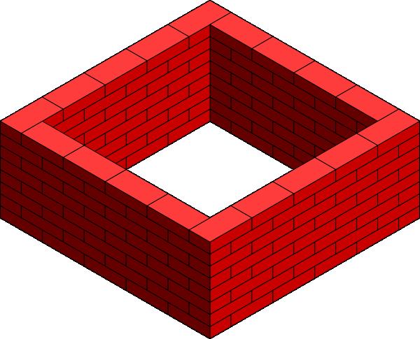 Brick Wall Square Clip Art at Clker.com - vector clip art ...
