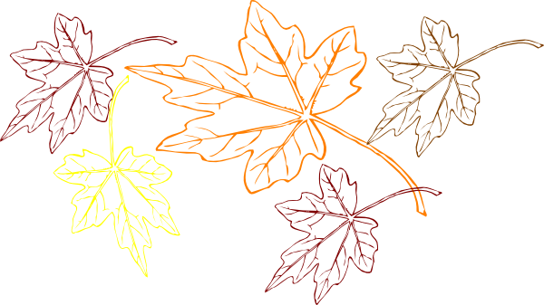 Falling Leaves Multiple Colors Clip Art at Clker.com ...