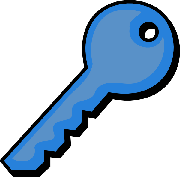 Blue Key Clip Art at Clker.com - vector clip art online, royalty free & public domain