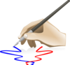 Hand Painting Clip Art