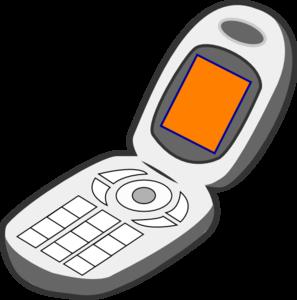 cell phone grey orange clip art at clker com vector clip cell phone clip art images cell phone clip art cartoons cute