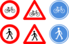 Bicycle Traffic Signs Clip Art