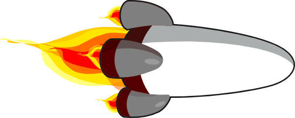 My Rocketship Edit (realistic) White Clip Art At Clker.com