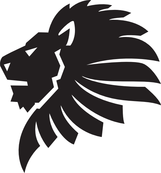 Lion Face Outline Cut Clip Art at Clker.com - vector clip ...