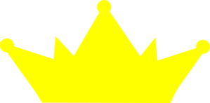 Yellow Crown No Outline Clip Art