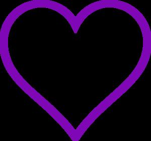 heart purple clip art at clkercom vector clip art