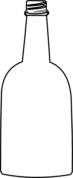 simple bottle outline clip art at clker com