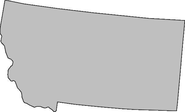 grey montana state clip art at clker - vector clip art online