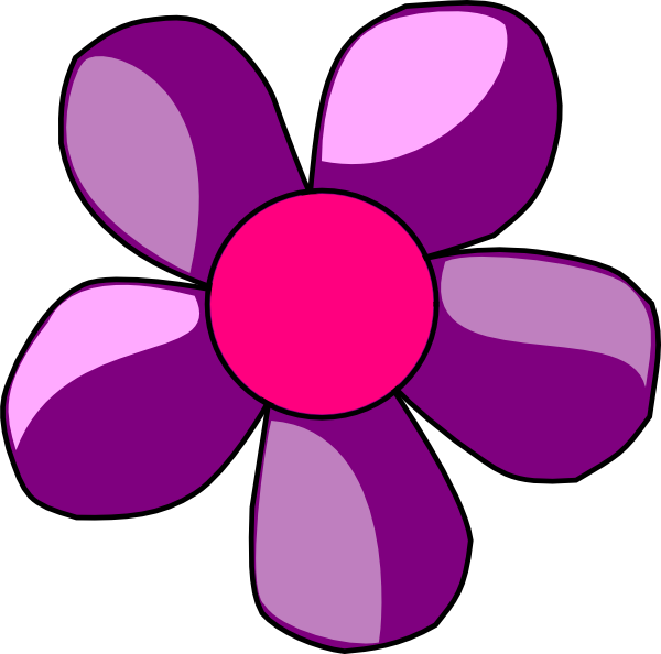 Purple Flower Clip Art At Vector Clip Art Online Royalty Free Public Domain