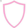 Pink And White Shield Clip Art