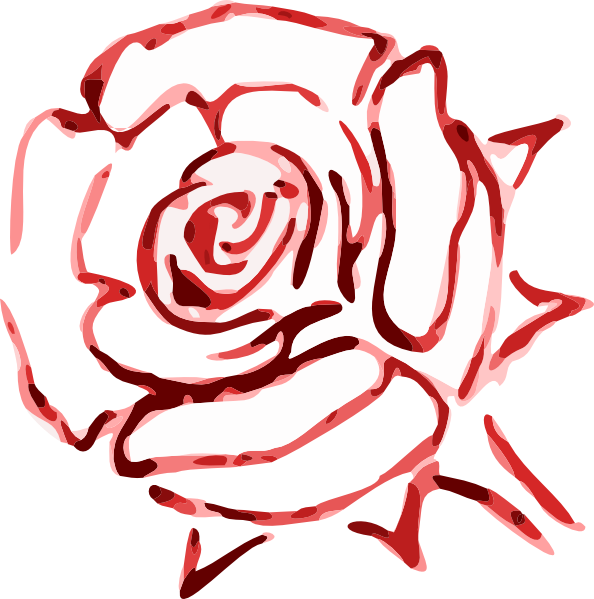 Rose Outline Clip Art at Clker.com - vector clip art online, royalty free & public domain