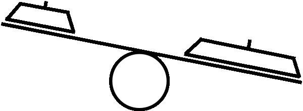 Uneven Balance Clip Art At Clker Com Vector Clip Art