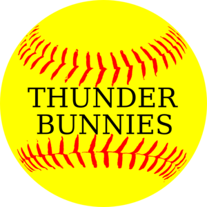 Softball Yellow Thunder Bunnies Clip Art
