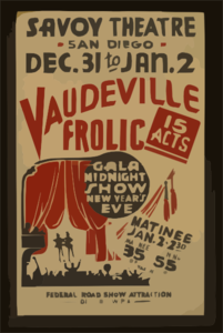 Vaudeville Frolic  Gala Midnight Show New Year S Eve : 15 Acts. Clip Art