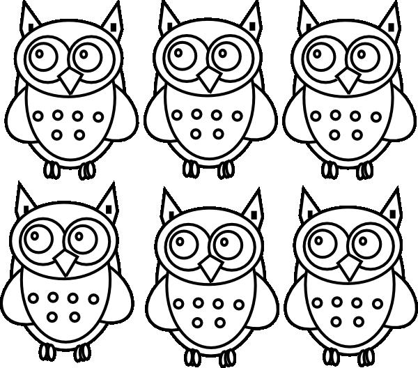 Coloring Book Owls Clip Art At Clker Com Vector Clip Art