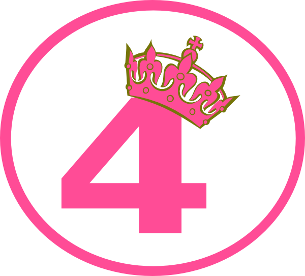 Pink Tilted Tiara And 4 Clip Art At Clker.com