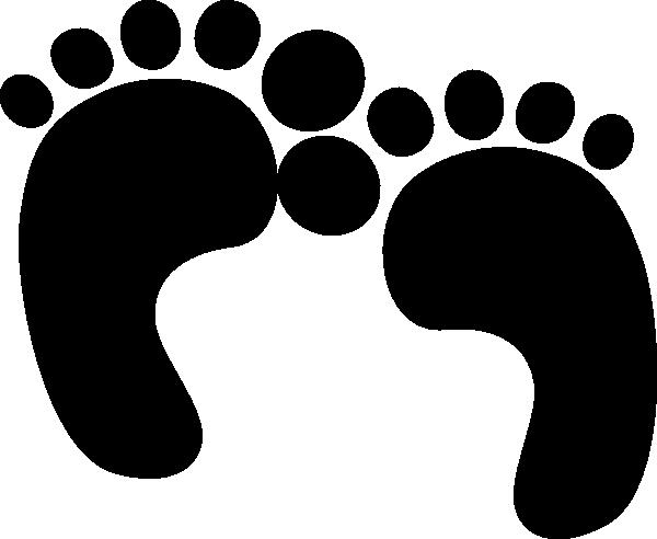 black baby feet clip art at clker - vector clip art online