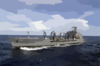 Usns Pecos (t-ao 197) Cruises In The Pacific Ocean Clip Art