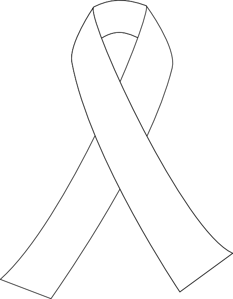 Ribbon For Cancer Clip Art At Clker Com Vector Clip Art Ribbon Coloring Pages