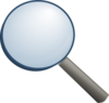 Magnifier Without Shade Clip Art