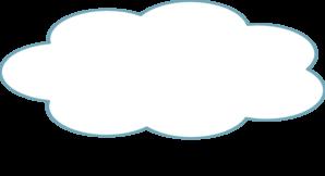 Blue Thought Cloud Thin Clip Art at Clker.com - vector ...