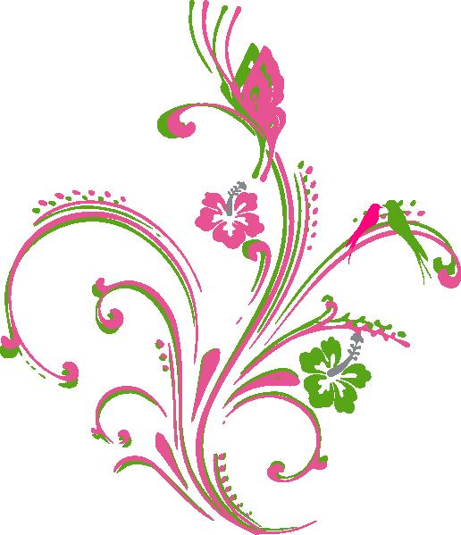 Purple Butterfly Scroll Clip Art At Clker Com: Pink Green Butterfly Scroll Clip Art At Clker.com