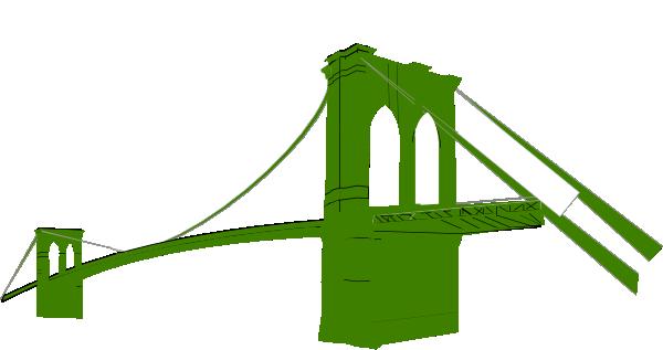 Brooklyn Bridge Green Clip Art at Clker.com - vector clip ...