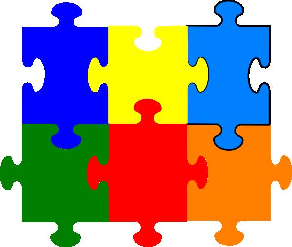 Jigsaw Puzzle 6 Pieces Clip Art At Clker Com Vector Clip