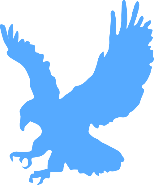blue eagle clip art at clker - vector clip art online, royalty