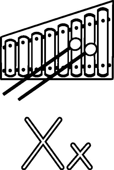 X Is For Xylophone Clip Art at Clker.com - vector clip art ...