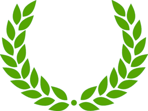 Laurel Wreath In Green Clip Art