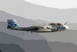 An Ea-6b Prowler Navigates During A Surface Search Contact (ssc) Mission Clip Art