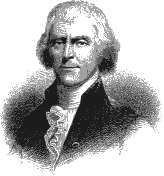Thomas Jefferson - Headshot Clip Art at Clker.com - vector clip ...