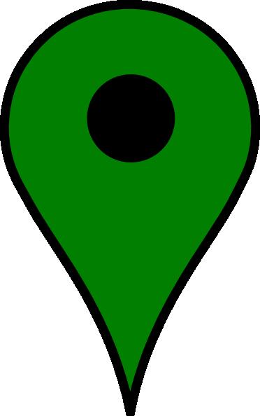 green location pin clip art at clker com