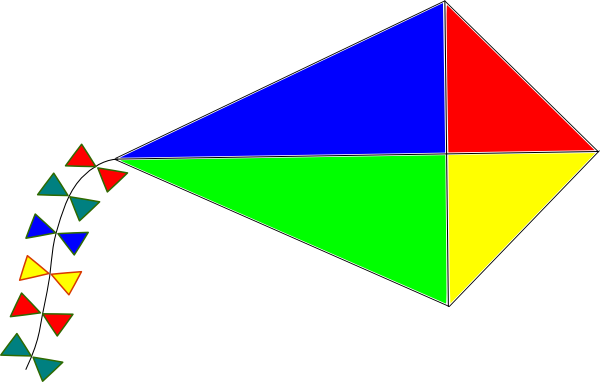 Rainbow Kite Clip Art At Clker