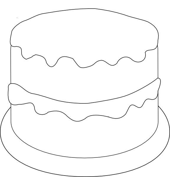 Birthday Cake To Color Clip Art At Clker Com Vector Clip