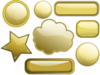 Some Gold Buttons Clip Art