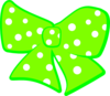 Bow With Polka Dots 2 Clip Art