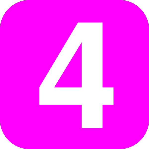 Number 4 Pink Clip Art At Clker Com
