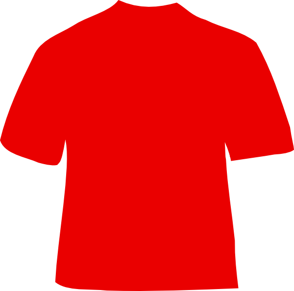 red t shirt 2 clip art at clker com vector clip art shirt clipart with 3 straps shirt clipart white
