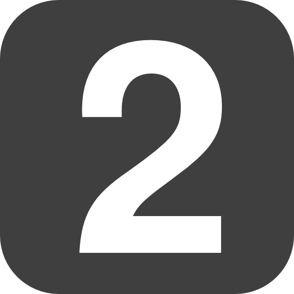 Number 2 Grey Flat Icon Clip Art At Clker Com Vector