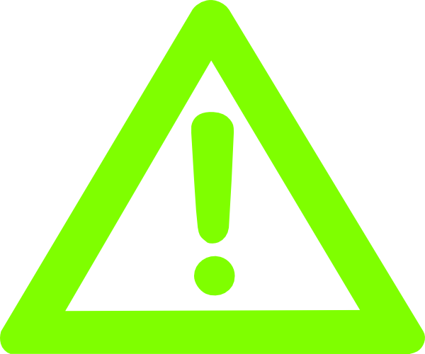 Caution Green Logo Clip Art at Clker.com - vector clip art ...