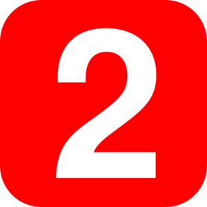 Clipart Red Number 2