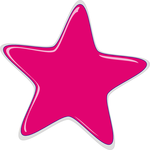 pink star clip art at clker com vector clip art online starfish clipart black and white starfish clip art free downloads
