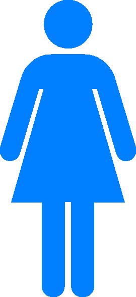 Blue Girl Symbol Clip Art At Clker Com Vector Clip Art