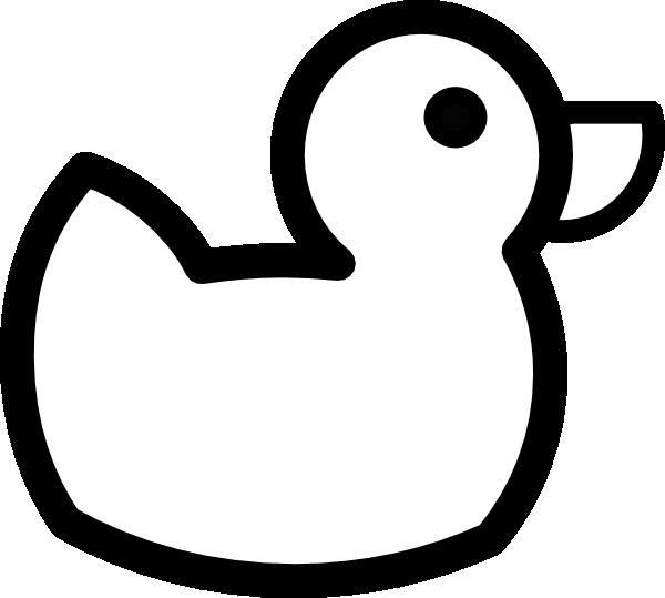 duck outline clip art at clker com