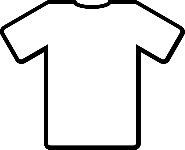 White Tshirt Clip Art at Clker