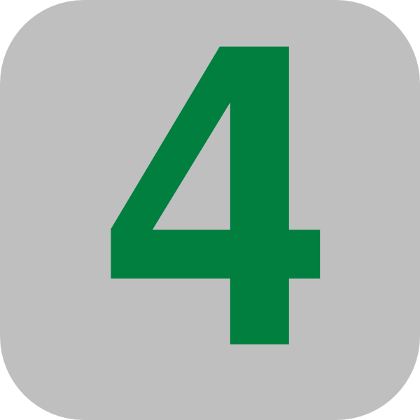 Number 4 Grey Flat Icon Clip Art At Clker Com